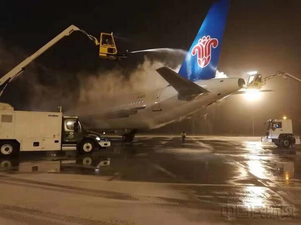 冬季除冰雪 大庆机场在行动