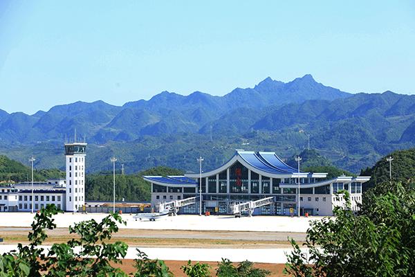 甘肃陇南机场通航两周年:打造陇上江南最美机场