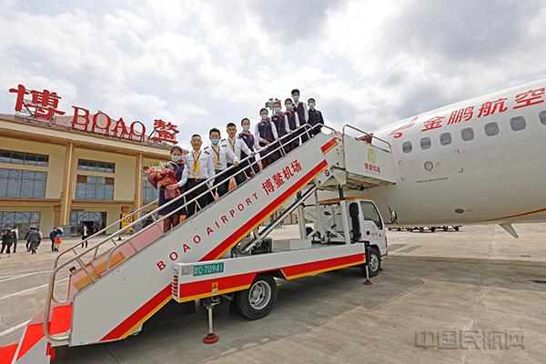 """金鹏航空""""琼海-上海""""新航线助力医疗合作提速"""