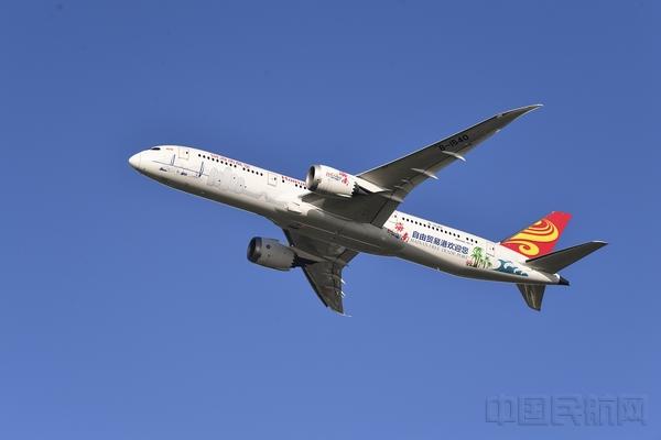 """附圖8:海航""""海南自由貿易港號""""主題涂裝飛機B-1540(攝影:褚文銘).jpg"""