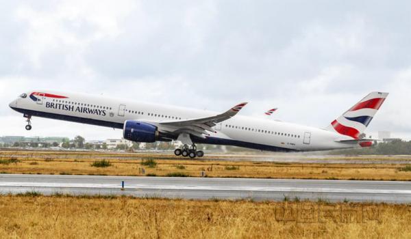 英國航空接收其首架空客A350-1000飛機