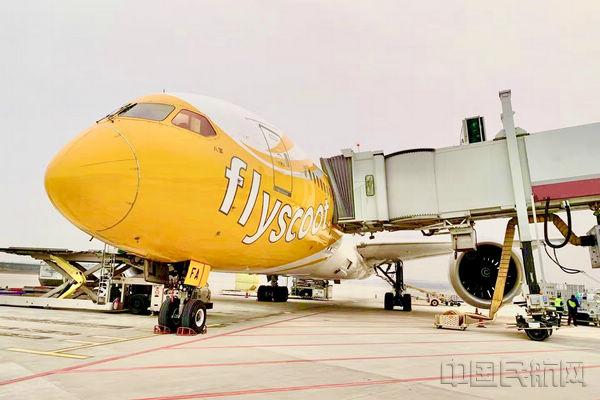 酷航用波音787客机执飞郑州