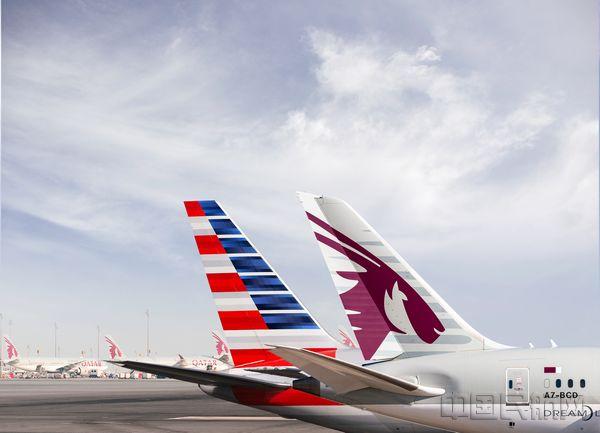 卡塔尔航空与美国航空签署代码共