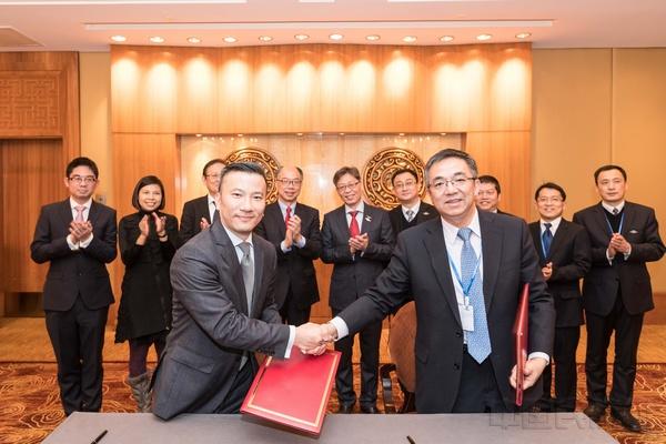 中国民用航空局与香港运输及房屋局签订航空运输安排备忘录。汪洋摄.jpg